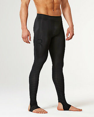 2XU Mens Power Recovery Compression Tights (Black/Black) + Free AUS Delivery! • 101.54£