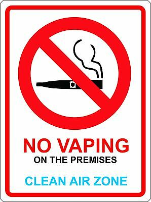 $ CDN2.55 • Buy NO VAPING 140mm X 105mm Premises Shop Office Warehouse Pub STICKER