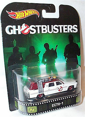 Ghostbusters Ecto-1 Retro 1-64 Scale New In Packet Hot Wheels DWJ72 • 11.99£