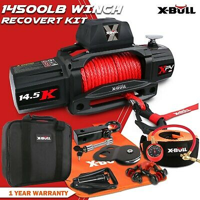 AU639 • Buy X-BULL Electric Winch 12V 14500LBS Synthetic Rope 26m Wireless Remote 4x4 4WD