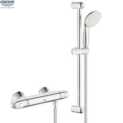 GROHE 34557 Grohtherm 1000 Thermostatic Bar Shower C/w Kit, Chrome, 34557001 NEW • 159.50£