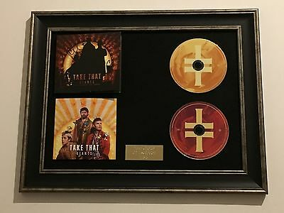 Signed/autographed Take That - Giants Framed Cd Presentation. Gary Barlow • 119.99£