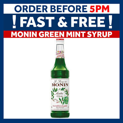 MONIN Coffee Cocktail Syrup - 70cl Glass GREEN MINT Syrup - USED BY COSTA COFFEE • 9.49£