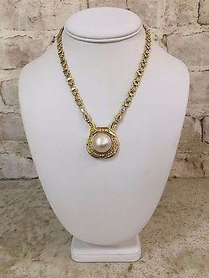 $3400 • Buy 18KYG Diamond And Mabe Pearl Necklace SALE! $500 Off Retail Price