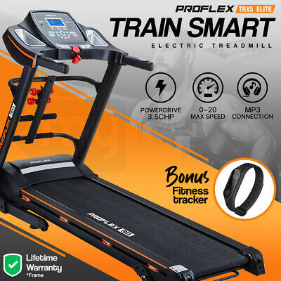 AU559 • Buy PROFLEX Electric Treadmill W/ Fitness Tracker Home Gym Exercise Equipment
