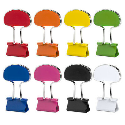 1 - 20 Colourful Bulldog Fold Back Clips Metal Grip Clip Paper Office Stationary • 1.99£