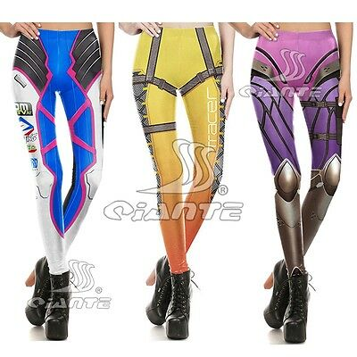 AU17.11 • Buy OW  Overwatch DVA Tracer Widowmaker Leggings Cosplay Costume Lycra Yoga Pants
