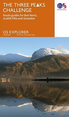 Three Peaks Challenge OS Map (Ben Nevis Cover) • 7.75£