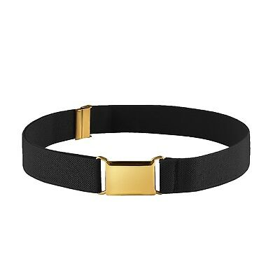 $11.99 • Buy Kids Elastic Adjustable Belt For Boys Girls Toddlers With Gold Square Buckle
