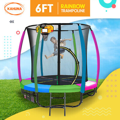 AU499 • Buy New 6ft Kahuna Trampoline Free Safety Net Spring Pad Cover Mat Basketball Set RB