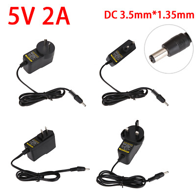 AU10.13 • Buy 110-240V AC To DC 5V 2A Switching Power Supply Adapter Charger 3.5mm*1.35mm Plug