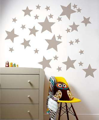 Mixed Size Stars Wall Stickers Kid Decal Art Nursery Bedroom Vinyl Decoration • 2.75£