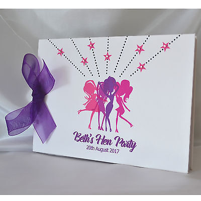 Personalised Hen Do Party Guest Book Scrapbook Photo Album Hen Night  • 11.99£