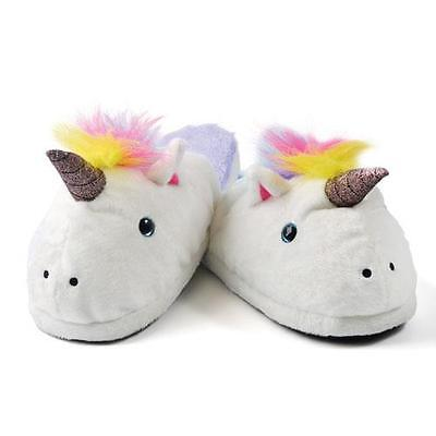 AU18.38 • Buy Unicorn Comfy Girls Womens Cute Lounge Indoor Slippers Fits Up To Size 7 New