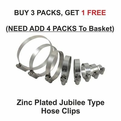 Hose Clips Pipe Clamps Fuel Hose Jubilee Type Silicon Hoses Worm Drive Steel ZP • 5.99£