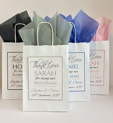 £1.79 • Buy Personalised Wedding Favour Paper Gift Bag Thank You Party