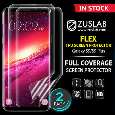 AU8.99 • Buy For Galaxy S8 S9 S9 Plus Genuine ZUSLAB Full Coverage Soft TPU Screen Protector
