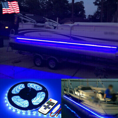 $12.86 • Buy Wireless Waterproof LED Strip Light 16ft For Boat / Truck / Car/ Suv / Rv Blue