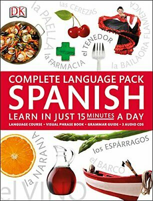 £12.99 • Buy Complete Language Pack Spanish: Learn In Just 15 Minutes A Day By DK Book The
