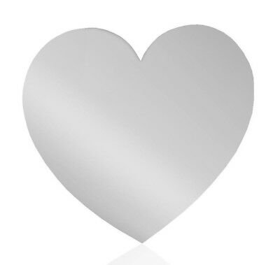Heart Shaped Acrylic Mirror Shatterproof Kids Bedrooms Safety Acrylic Mirror • 4.99£