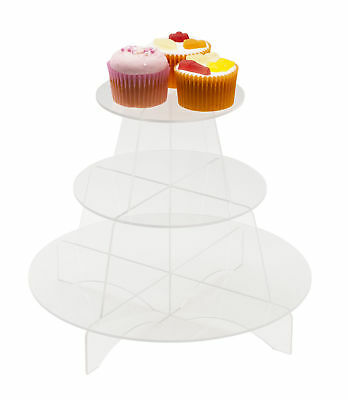 £14.99 • Buy 3 Tier Acrylic Cupcake Display Stand Round Shelves Cake Party Holder