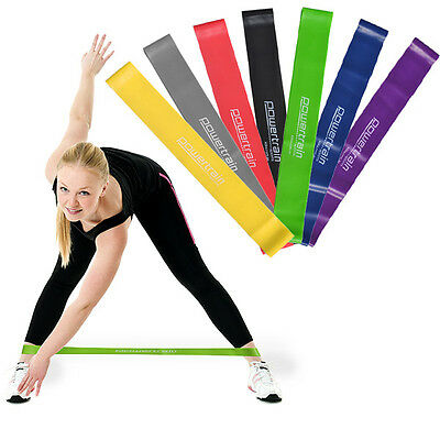 AU3.95 • Buy 30cm Yoga Resistance Band Loop Pilates Strap Home Gym Fitness Exercise Workout