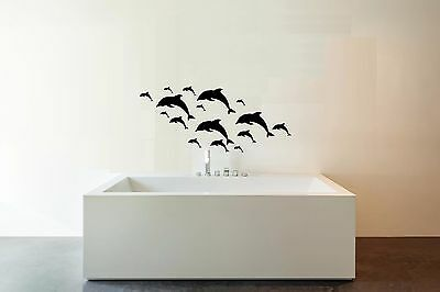 27 Mixed Size Dolphin Wall Stickers Kid Decal Art Nursery Bedroom Decoration • 2.99£