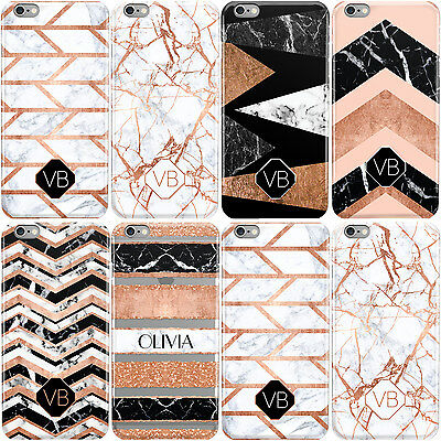 Dyefor Custom Marble Initial Name Hard Phone Case Cover For Apple Iphone • 5.95£