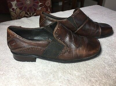 $ CDN53.20 • Buy Bama Brown Soft Leather Casual Oxford Slipon Shoes Women's Size 4 CS7