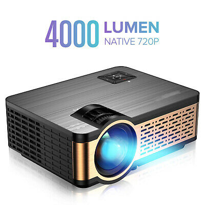 AU197.95 • Buy 1080P 8000 Lumen Full HD LED Projector Media Home Outdoor Cinema HDMI USB HiFi