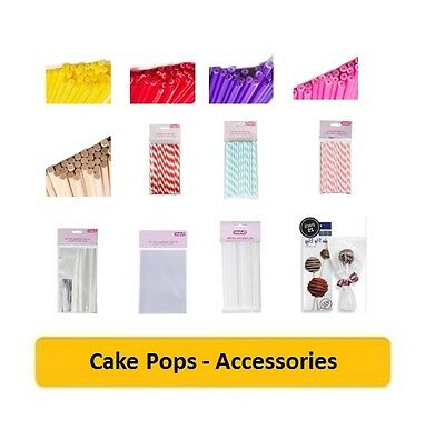 £2.69 • Buy CAKE POPS (Cake Decorating/Baking/Coloured/Straws/Sticks/Stands/Gift Bags/Cello)