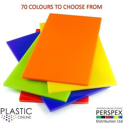5mm Colour Perspex Cast Acrylic Sheet Plastic Panel 55 DIFFERENT COLOUR A5 A4 A3 • 7.01£
