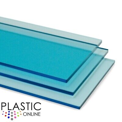£0.99 • Buy Light Blue Tint Perspex Acrylic Sheet Colour Plastic Panel Material Cut To Size