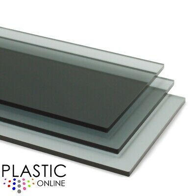 £0.99 • Buy Light Grey Tint Perspex Acrylic Sheet Colour Plastic Panel Material Cut To Size