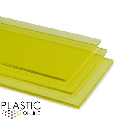 £0.99 • Buy Yellow Tint Perspex Acrylic Sheet Colour Plastic Panel Material Cut To Size
