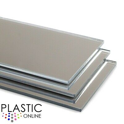 Acrylic Mirror Sheet Perspex Plastic Safety Mirror Silver Mirror Child Safe • 10.73£
