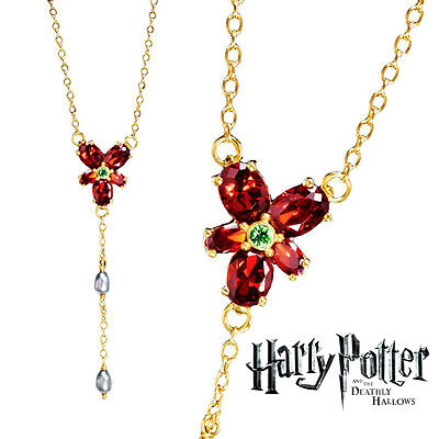 $12 • Buy Hermione Red Crystal Necklace, Harry Potter, Wizarding World, Noble, Cosplay