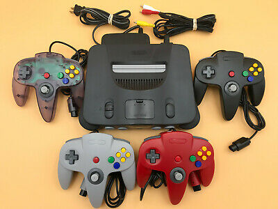 $ CDN260.03 • Buy N64 Nintendo 64 Console + UP TO 4 NEW CONTROLLERS + Cords + CLEANED INSIDE & OUT