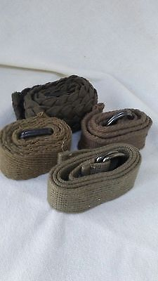 $10 • Buy Khaki Olive Canvas Kids Belts (4)