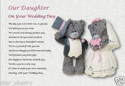 £3.59 • Buy OUR DAUGHTER On Your WEDDING DAY - Personalised Gift