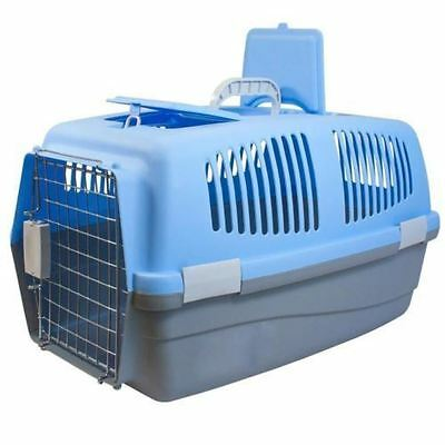 View Details Large Pet Carrier Plastic Travel Basket Crate Carry Handle Door Cat Dog Rabbit  • 119.98£