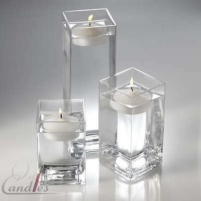 $149.99 • Buy Richland Square Vases & Floating Candles 3  Set Of 18 Event Decor & Centerpiece