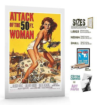 £24 • Buy Film Classic Pin Up Sci Fi Attack Of 5 Foot Woman Movie Poster Art
