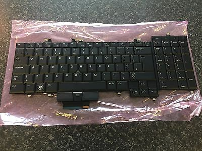 Dell Precision M6400 M6500 UK ENGLISH Backlit Keyboard X913D • 14.49£