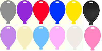 £4.35 • Buy Balloon Shape Plastic Weights 12 Colours To Choose For Helium & Latex Balloons