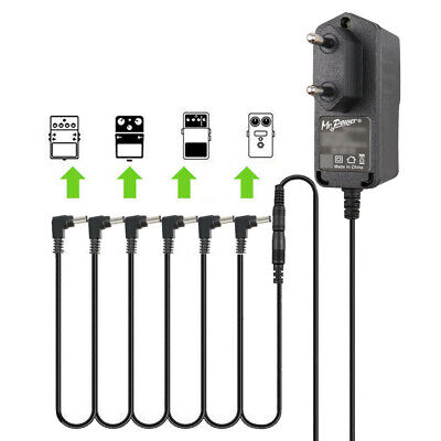 $ CDN17.63 • Buy EU 9V DC 1A Guitar Effect Pedal Power Supply Adapter 6 Way Daisy Chain Cable Kit