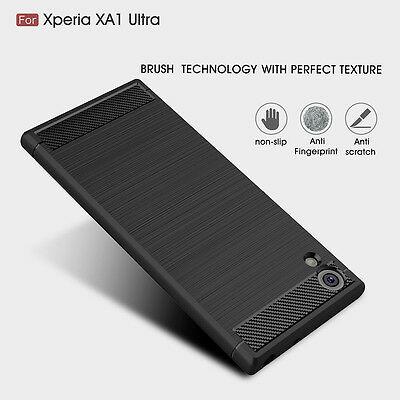 $ CDN4.66 • Buy Slim Brushed Soft Silicone Shockproof Case Cover For Sony Xperia XA1 XA1 Ultra