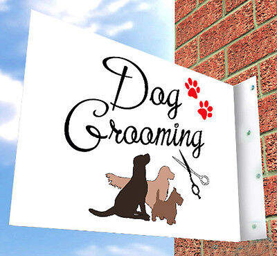 Dog Grooming Wall SIGN, For Pooch Parlour, SHOP FRONT, Aluminium Sign, Shop Sign • 49£