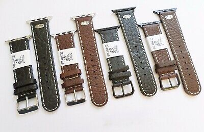 AU39.95 • Buy Taurus® Aero Genuine Leather Watch Band Strap For Apple Watch 42mm + Adapters