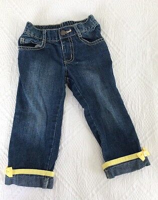 $6.50 • Buy GUC BEE CHIC  Gymboree Soft Denim Cuffed Jeans Size 2T